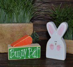Easter Block Set Easter BunnyPersonalized Wood by BlocksOfLove1, $10.99