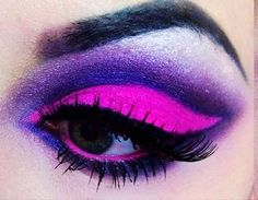 Mysterious Purple Eye Make-up