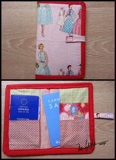 Portadcumento con tela de patchwork document case used patchwork fabric Handmade by RoWuDesign