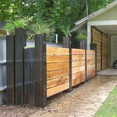 Creative+Privacy+Screens | creative cedar screen with steel planters