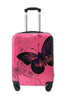 Set of 3 Hard Shell Suitcases Luggage Trolley 4 Wheels Travel Bags ...