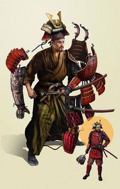 "the-history-of-fighting: "" Samurai Armor "" Katana Samurai, Ronin Samurai, Samurai Warrior, Character Concept, Character Art, Character Design, Samurai Clothing, Armadura Cosplay, Samurai Artwork"