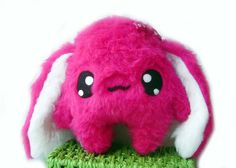 Kawaii Plush Bunny cute Rabbit  Hot  Pink by Fluse123 on Etsy, €22.00