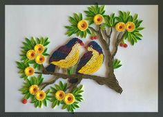 Flowers bird frame