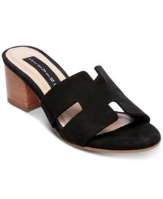 7a2f92251fc Steven by Steve Madden Foreva Block-Heel Sandals - Black 9.5M Block Sandals