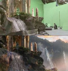 Movies before and after computer visual graphics