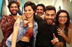 Plutão Já Foi Planeta comemora elogios à canções autorais nos bastidores do 'SuperStar' (Foto: Fabiano Battaglin/Gshow)
