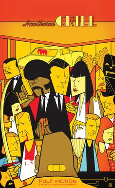 Ale Giorgini Movie Poster Pulp Fiction