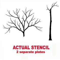 199 Best Tree And Branch Stencils Images On Pinterest Birch Forest