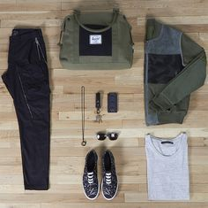Weekday Essentials featuring the Strand Duffel Mens Fashion Casual Wear, Casual Wear For Men, Dope Fashion, School Fashion, Fashion Men, Stylish Outfits, Fashion Outfits, Men's Outfits, Brooklyn Style