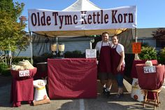 Booth set up, like this clean but upscale look. Kettle Popcorn, Caramel Corn, Farms, Festivals, Opportunity, Birthday Parties, Events, Weddings, Learning