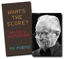 Congratulations to David W. McFadden on being the Canadian winner of the 2013 Griffin Poetry Prize