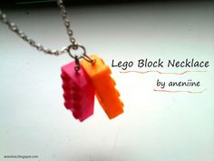 Lego Block Necklace : Image 1 of 2