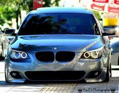 BMW E60 5 series grey slammed