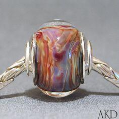 Big Hole Bracelet Bead SRA Handmade Lampwork by AKDlampwork, $32.00