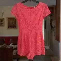 Nice Forever 21 Romper Romper Forever 21. Shell, 71%cotton, 29%nylonpolyamide. Linnig, 100%polyester. Exclusive of decoration..coral Forever 21 Pants Jumpsuits & Rompers