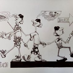 Inktober day 24 - Blind - #inktober #inktober2017 #inktoberday24 #inktoberprompts #ink #penandink #brushandink #brushpen #copic #bmitchleyart #koibrushpen #blind #character #comic #southafricanartist #southafrican #southafrica #artist #artistoninstagram #art #illustration #dailysketch #drawingink #blindleadingtheblind #theblindleadingtheblind #comedy Blind Leading The Blind, South African Artists, Brush Pen, Copic, Inktober, Comedy, Photo And Video, Drawings, Illustration