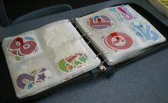 CD case for storing pre cut lettering