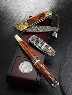 Glorious and salubrious men's accessories. All it's missing is a pipe and some cigars and the class would be complete.