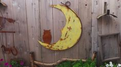 Vintage  Style Owl Moon Hanging by RockinBTradingCo on Etsy