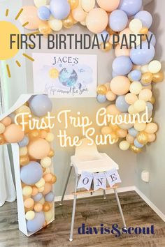 First Trip Around the Sun — Davis & Scout Celebration Co.