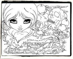 Snow White and the 7 skulls by JadeDragonne.deviantart.com on @deviantART