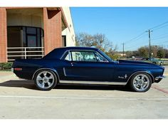 1968 Mustang coupe in Presidential Blue