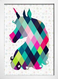 Imagem do Poster Unicorn Unicorn Art, Art Plastique, Printable Wall Art, Decoration, Iphone Wallpaper, Pop Art, Gallery Wall, Art Prints, Drawings