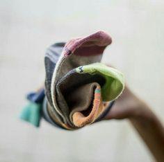 Top view for this socks flower. Doormind socks