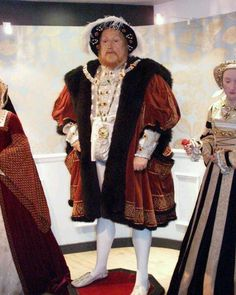 Wax Figure of King Henry the 8th.At Madam Tussard