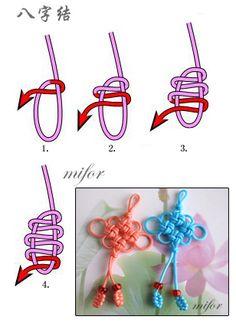 Huit nœud - mifor - Lanting noeud art