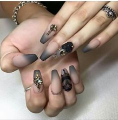Matte nude and black