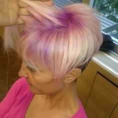 Pink and blonde #olaplex