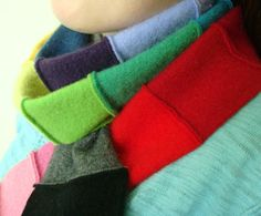 WormeWoole's recycled cashmere rainbow scarves... love them!