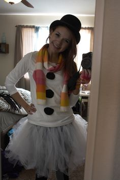 Cute Snowman Costume For Tween Girl Coolest Homemade