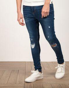 8ea24c856b pantalón vaquero súper skinny fit oscuro. OscuroOscuridadModa MasculinaPantalonesJeans  Ajustados Skinny
