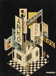 By Jo Klek (Josip Seissel) (1904–1987), 1923, advertising, ink, watercolor. (member of the avant-garde Zenit movement of the 1920s)