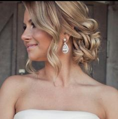 Stunning loose,soft ,romantic updo.