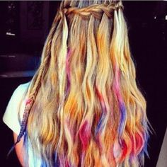 Have fun with your hair for concerts with temporary hair color