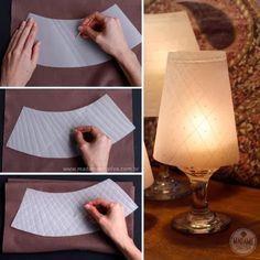 ARTESANATO COM QUIANE - Paps,Moldes,E.V.A,Feltro,Costuras,Fofuchas 3D: Porta velas personalizado com taça e papel vegetal