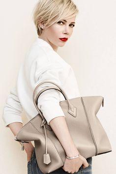 Pixie hair cut! Michelle Williams for Louis Vuitton - Harper's BAZAAR