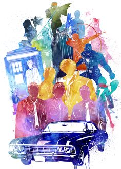 This is a multi-fandom piece I did for Wattpad not long ago, it has almost all the fandom I am obsess about! Supernatural, Doctor Who, Sherlock, Marvel… I believed they use this on their promotional. Fandoms Unite, Hunger Games, Doctor Who, Harry Potter, Supernatural Wallpaper, John Barrowman, Fandom Crossover, Film Serie, Illustrations