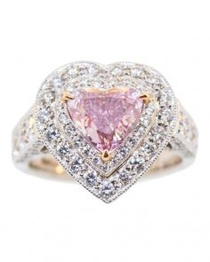 This fancy intense purple pink diamond is one of a kind