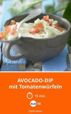 Avocado-Dip - mit Tomatenwürfeln - smarter - Kalorien: 98 Kcal - Zeit: 15 Min. | eatsmarter.de