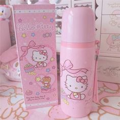 Definitely need this Hello Kitty thermos for teatime. Hello Kitty Items, Hello Kitty Collection, Kawaii Room, Everything Pink, Kawaii Cute, Pink Aesthetic, Sanrio, Girly Things, Kawaii Things