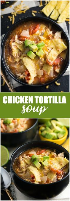 Chicken Tortilla Soup - A delicious and hearty soup with a Mexican flair.