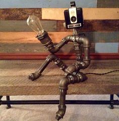 A personal favorite from my Etsy shop https://www.etsy.com/listing/237365234/robot-lamp