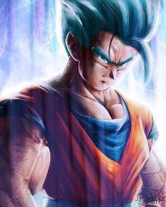 Ridiculously amazing illustration of Gohan Super Saiyan Blue!  #Gohan #DragonBallZ #DBZ #DragonBallSuper