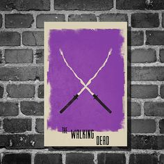 The Walking Dead Michonne retro poster