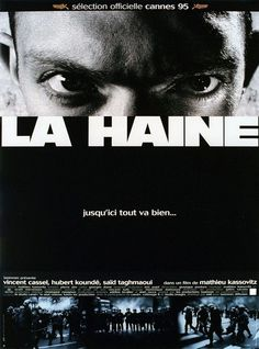 POSTER LA HAINE (1995) VINCENT CASSEL AS VINZ - VERSION FRANCE SQ13